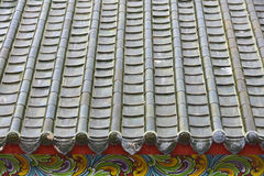 Китайская крыша святыни, Бангкок, Таиланд Стоковые Фото