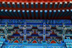 китайская крыша Стильный национальный орнамент Стоковые Фото