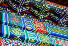 китайская крыша элементов Стоковое Фото
