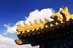 китайская крыша Стоковое Изображение