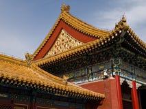 китайская крыша Стоковое Фото