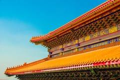 китайская крыша Стоковая Фотография