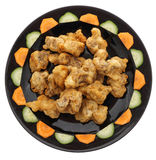 китайская кухня китайская еда Зажаренные сухие нервюры свинины Стоковое Изображение RF