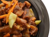 китайская кухня китайская еда Нервюры свинины в соусе Стоковая Фотография