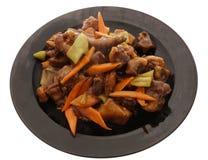 китайская кухня китайская еда Нервюры свинины в соусе Стоковая Фотография RF