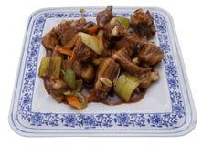 китайская кухня китайская еда Нервюры свинины в соусе Стоковое фото RF