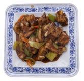китайская кухня китайская еда Нервюры свинины в соусе Стоковое Фото