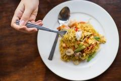 китайская кухня чау-чау зажарила stir лапшей mein Стоковые Изображения
