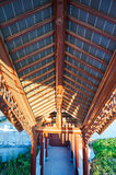 Китайская классическая архитектура - потолок Стоковая Фотография