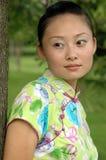 китайская мечтая девушка Стоковая Фотография