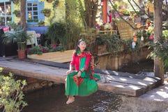 Китайская модель с традиционными одеждами Стоковые Изображения RF
