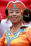 Китайская монгольская пожилая женщина Стоковые Изображения