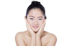 Китайская модель с свежей стороной кожи Стоковое Изображение