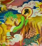 Китайская настенная роспись Стоковое фото RF
