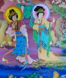 Китайская настенная роспись Стоковые Изображения