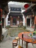 китайская дом двора Стоковые Фотографии RF