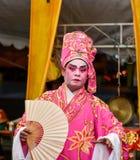 Китайская опера, актеры в представлении Стоковое Изображение