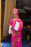 Китайская опера, актеры в представлении Стоковые Изображения