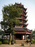 Китайская пагода в небе Стоковая Фотография RF