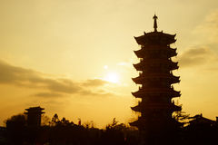 Китайская пагода Стоковые Изображения