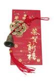китайская побрякушка красного цвета пакета Стоковые Изображения