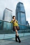 китайская потеха имея outdoors женщину Стоковое Изображение RF