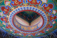 Китайская предпосылка картины стиля виска Стоковые Изображения