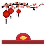 Китайская предпосылка фонарика - иллюстрация Стоковые Изображения RF