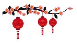Китайская предпосылка фонарика - иллюстрация Стоковое фото RF