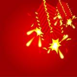 Китайская предпосылка шутихи Стоковые Фото
