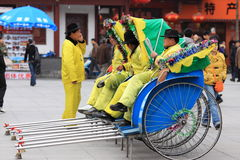 китайская рикша стоковое изображение