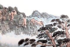 Китайская роспись высокой горы бесплатная иллюстрация