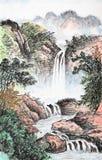 Китайская роспись традиционного китайския, ландшафт стоковые фото