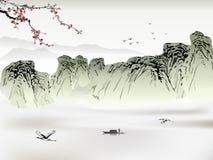Китайская роспись бесплатная иллюстрация