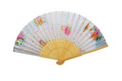 китайская рука вентилятора деревянная Стоковое Изображение