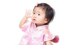 Китайская рука девушки вверх Стоковые Изображения