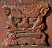 китайская ручка двери крупного плана старая Стоковая Фотография