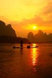 Китайская рыбная ловля fishman Стоковые Фотографии RF