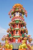 китайская светлая выставка pagoda Стоковые Изображения RF