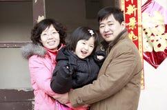 китайская семья Стоковое Изображение