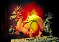 китайская скульптура дракона Стоковое фото RF