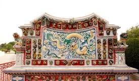 китайская скульптура дракона Стоковая Фотография RF