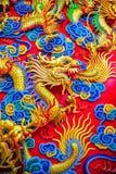 китайская скульптура дракона Стоковые Изображения