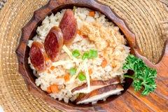 китайская сосиска зажаренного риса Стоковое Изображение RF
