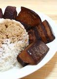китайская соя соуса риса мяса Стоковые Фотографии RF