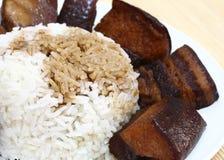 китайская соя соуса риса мяса Стоковые Фото