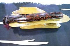 Китайская старая аппаратура музыки Guqin стоковые изображения