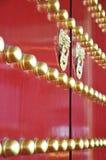Китайская стародедовская дверь Стоковое Изображение RF