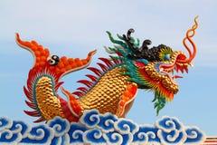 китайская статуя дракона Стоковое Фото