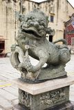 китайская статуя льва Стоковое Фото